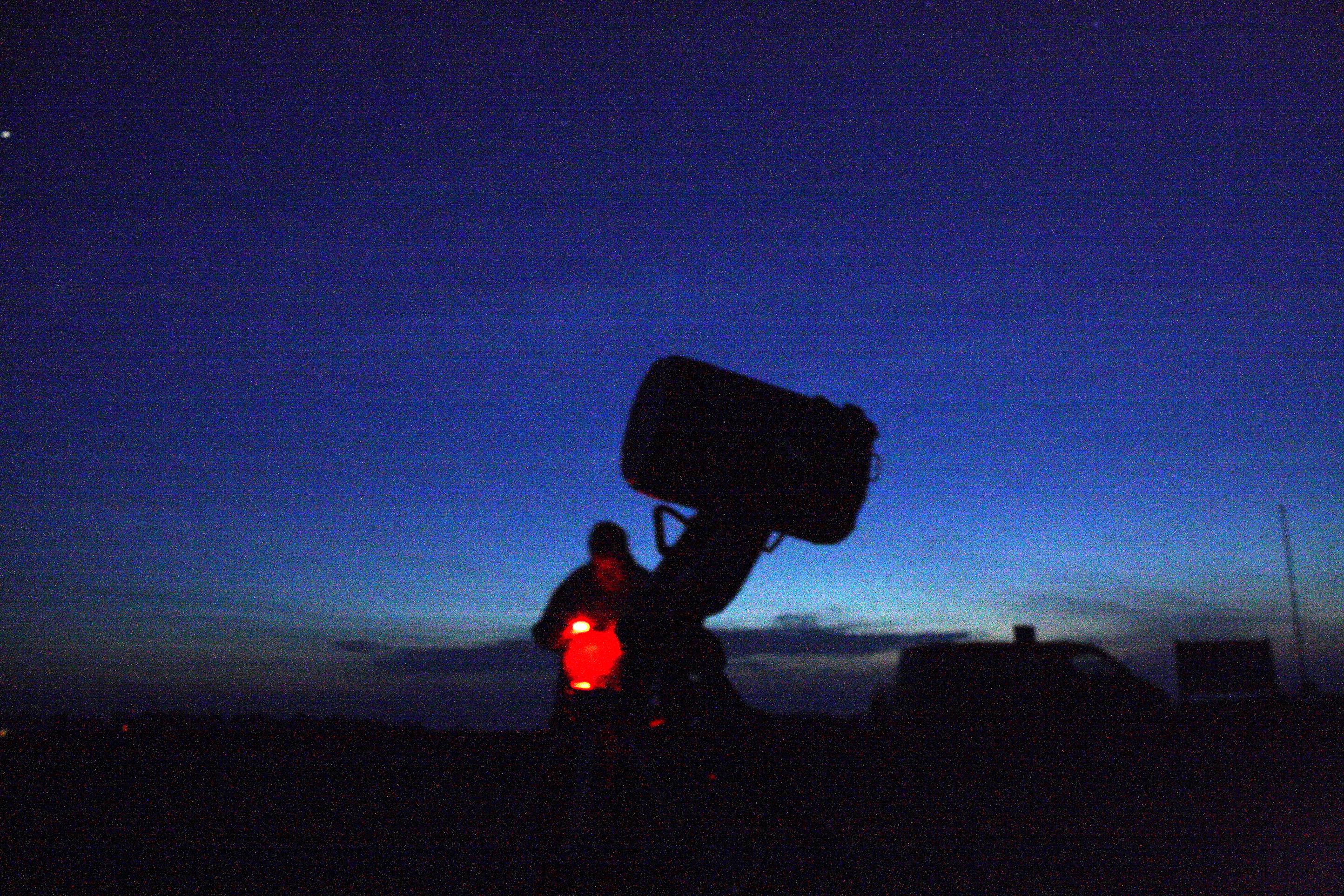 Sagittarius 11 - Eketorps parkeringsplats. 14-tums teleskop, deltagare från Lund