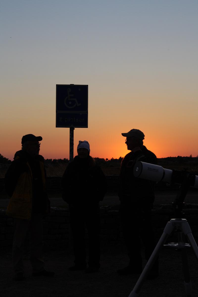 Sagittarius 2012 - Tjuvstartskvällen - Uppklarning och många deltagare