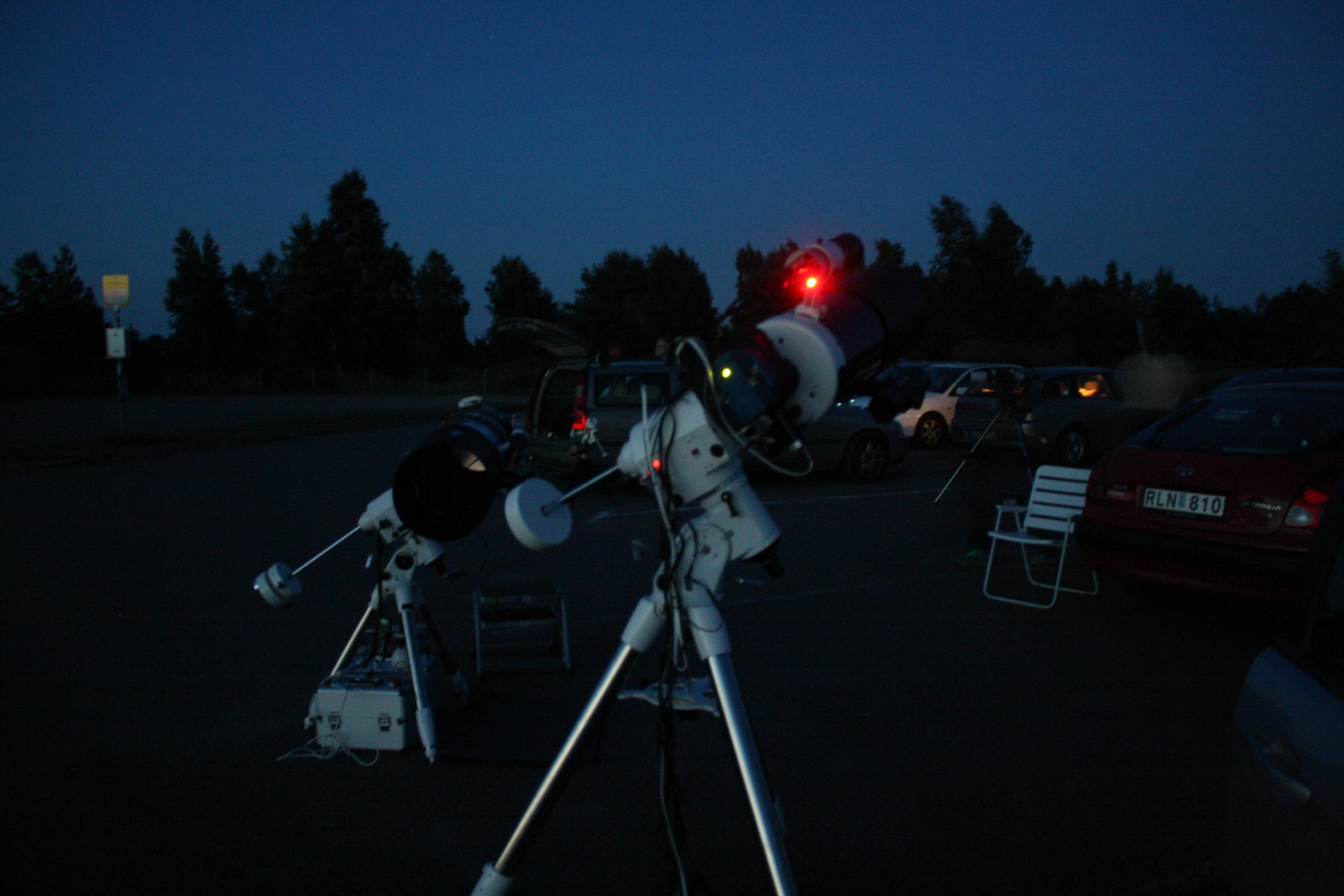 Sagittarius 2014 på södra Öland och sensommarnatten är strax här.