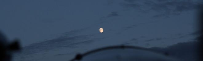 Nästan fullmåne - LX200 Classic ute på balkongen