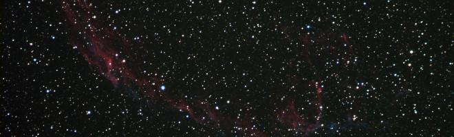 Slöjnebulosan NGC6960 anno 2012 från mitt bildarkiv, LRGB, korta exponeringar med ST8300M CCD-kameran genom 102mm ED f/7 refraktorn, bin 2x2