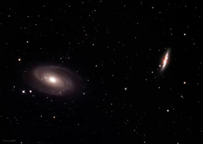 Messier 81 - Bodes galax och 82 - Cigarrgalaxen