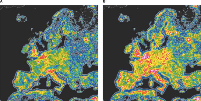 Läget med ljusföroreningar för Europa och den förväntade ökningen när vi går över till 4K CCT LED teknik.