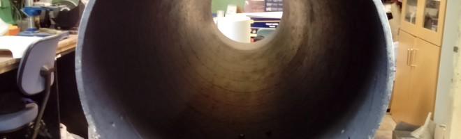 Renoveringen av den gamla tuben till 12.5-tums Newtonreflektorn är klar, och tubens insida är behagligt mattsvart.