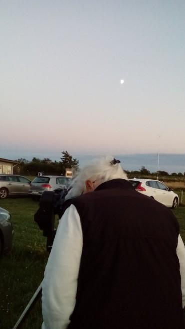 En klar visningskväll - Månen, Mars och Saturnus observerades