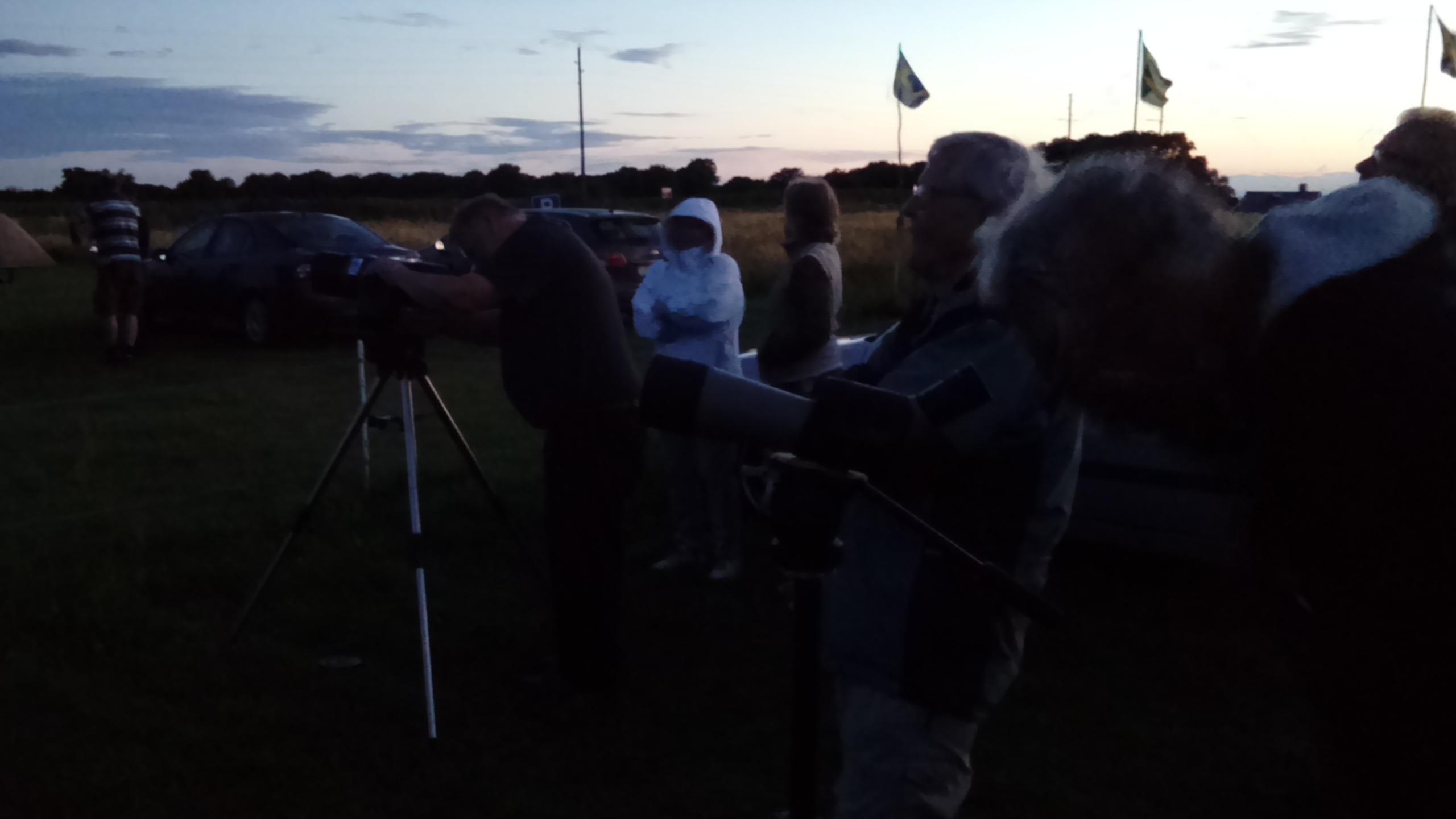 En klar visningskväll – Månen, Mars och Saturnus observerades