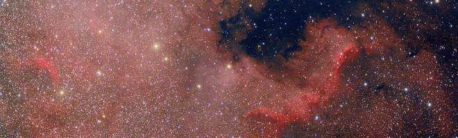 Ovan en bild på Nordamerika nebulosan NGC7000. Total exponeringstid var 1.5 timmar (360s x 15) med ISO800.