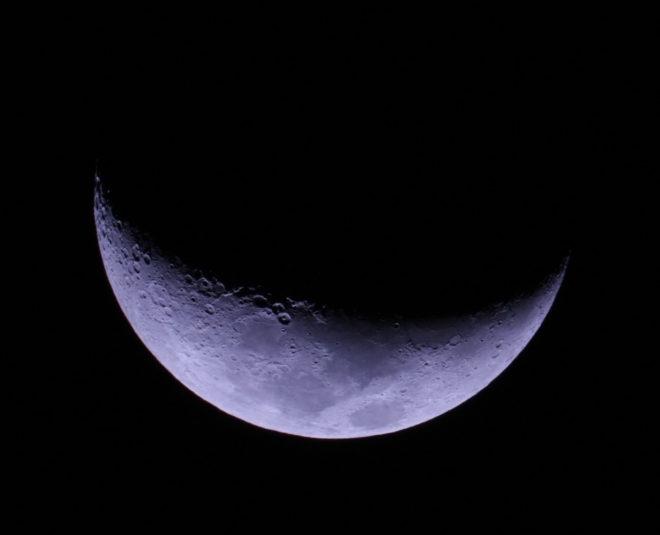 Månen 25% belyst