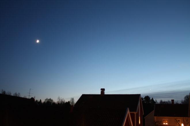 Månen och Venus