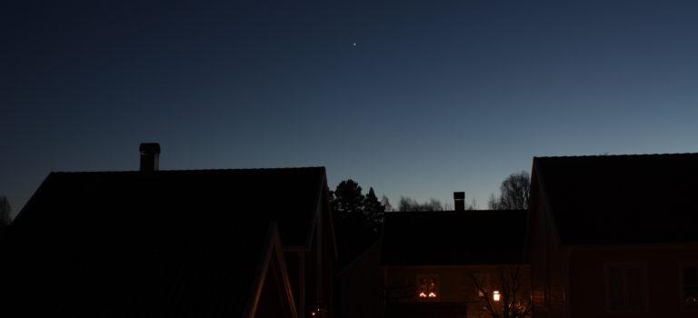Venus och Mars just när vintern ska börja igen