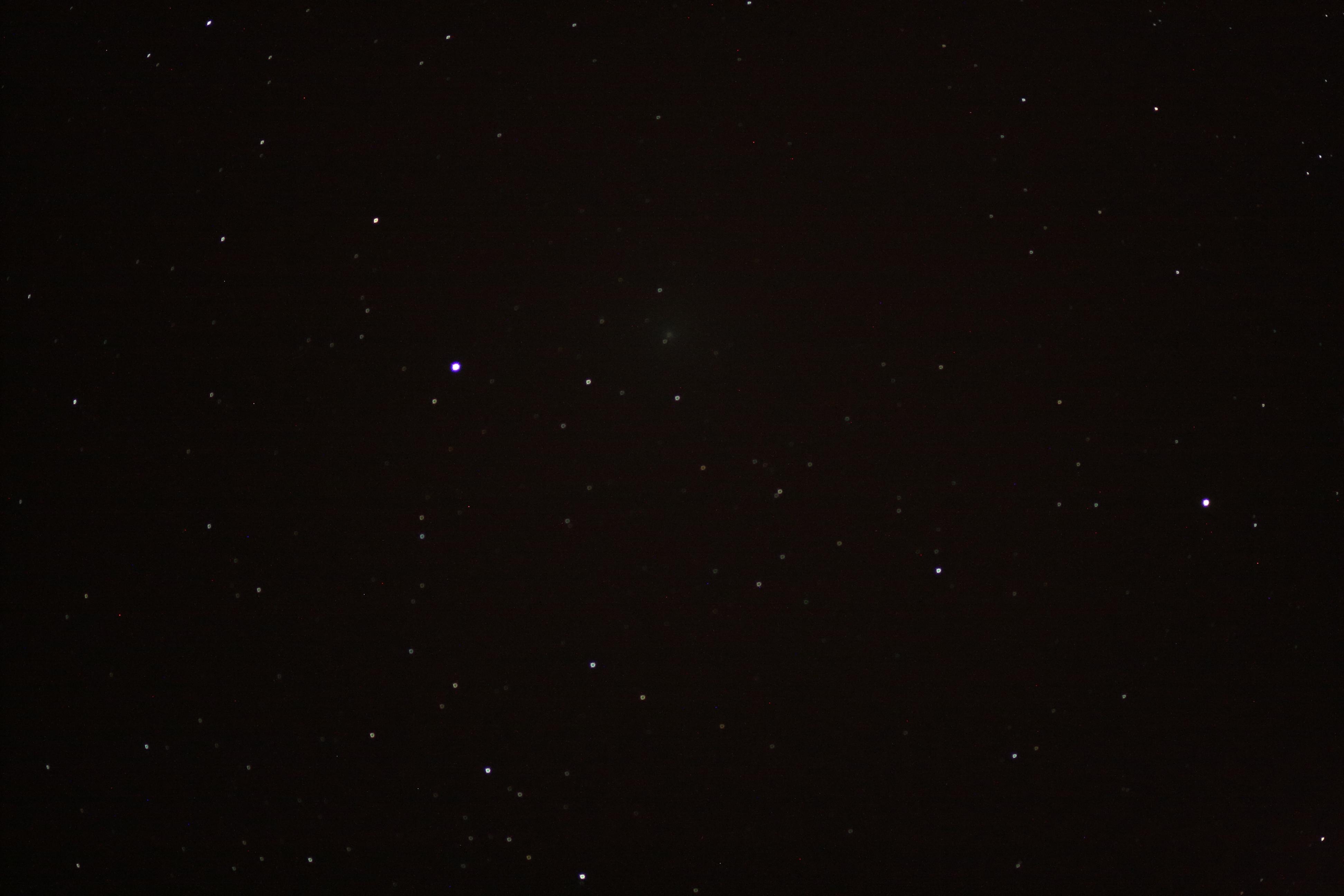 Komet 41P/Tuttle-Giacobini-Kresak vid klockan 22UT den 18.2.17. 102 mm f/7 refraktor, 60 sekunders exponering, ISO1600, Canon EOS 1000D
