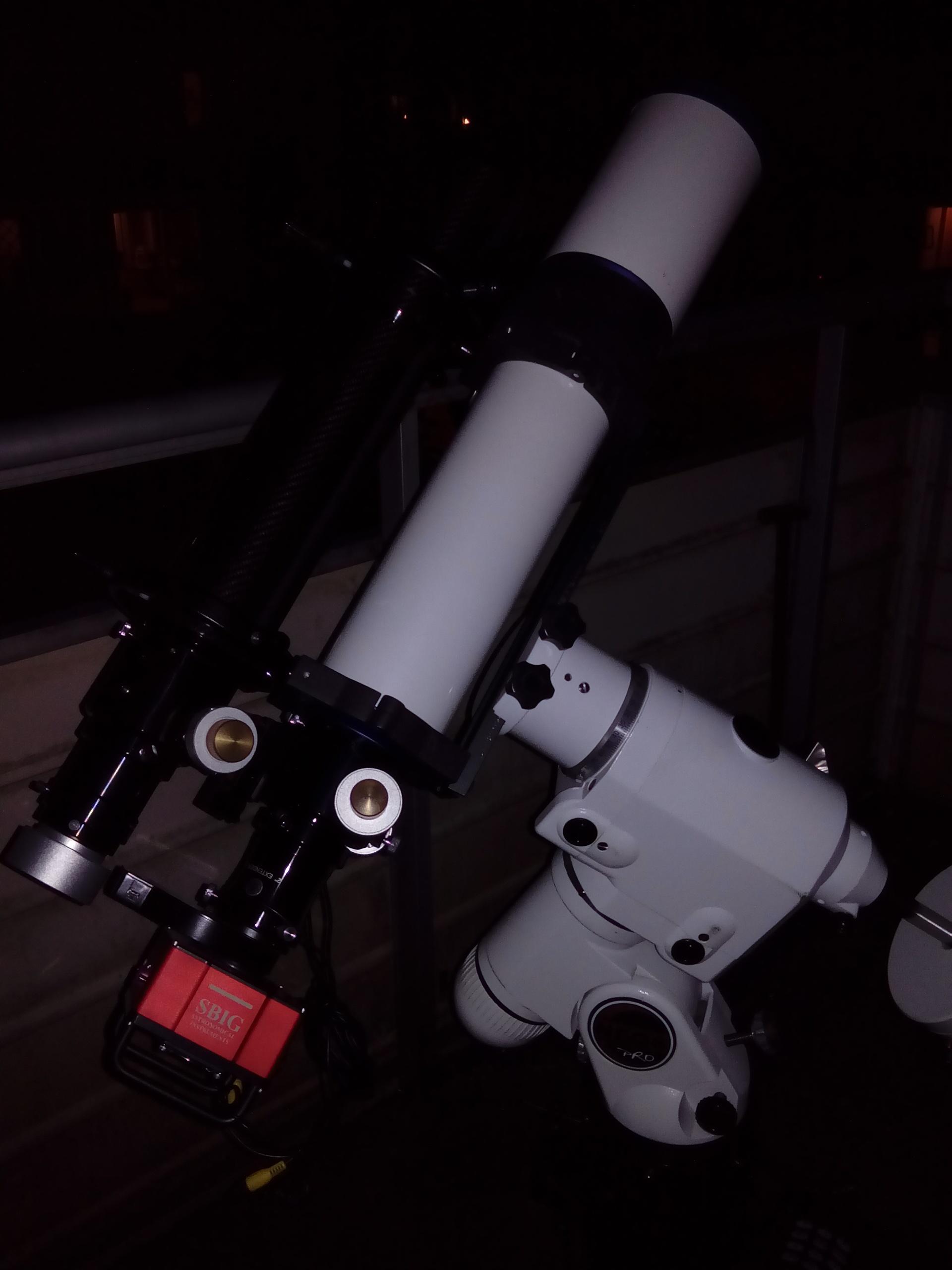 Två refraktorer på NEQ6-monteringen