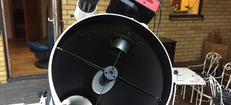 Inkörning av 10-tums f/5-tuben