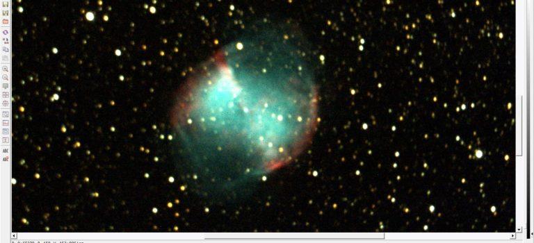 NGC6992 i Cygnus och M27 i Vulpecula