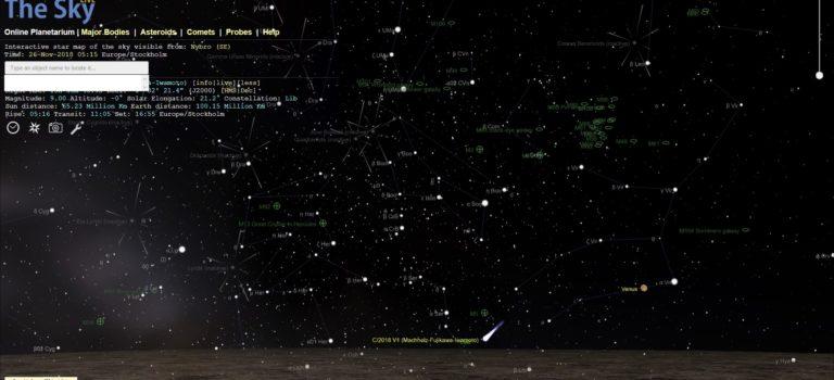Visuellt upptäckt ljusstark långperiodisk komet rör sig tyvärr nu mycket snabbt in mot solen