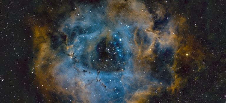 Rosettnebulosan med Hubble färger
