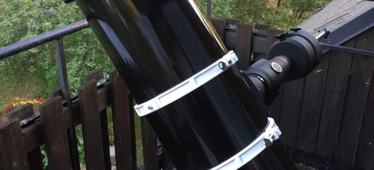 Skywatcher 10 tum f/5 Newton-tuben är nu kollimerad