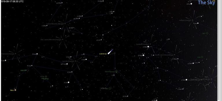 Här hittar du den nyupptäckta interstellära kometen C/2019 Q4 (Borisov)
