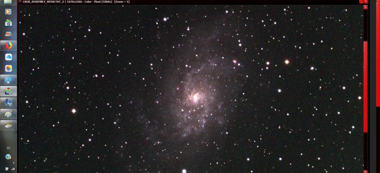 M33 i Triangelns stjärnbild är färdig