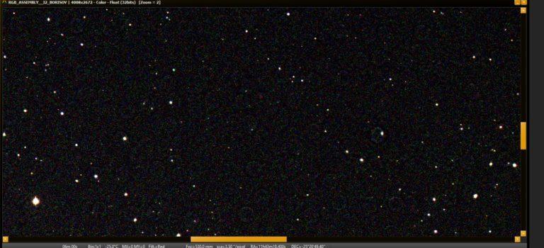 En interstellär komet kan ha fångats på min bild nämligen I2/Borisov