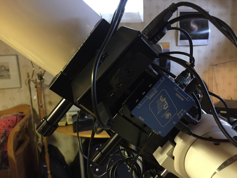 Pegasus Astro Pocket Powerbox, den blå lådan, fungerar för det mesta