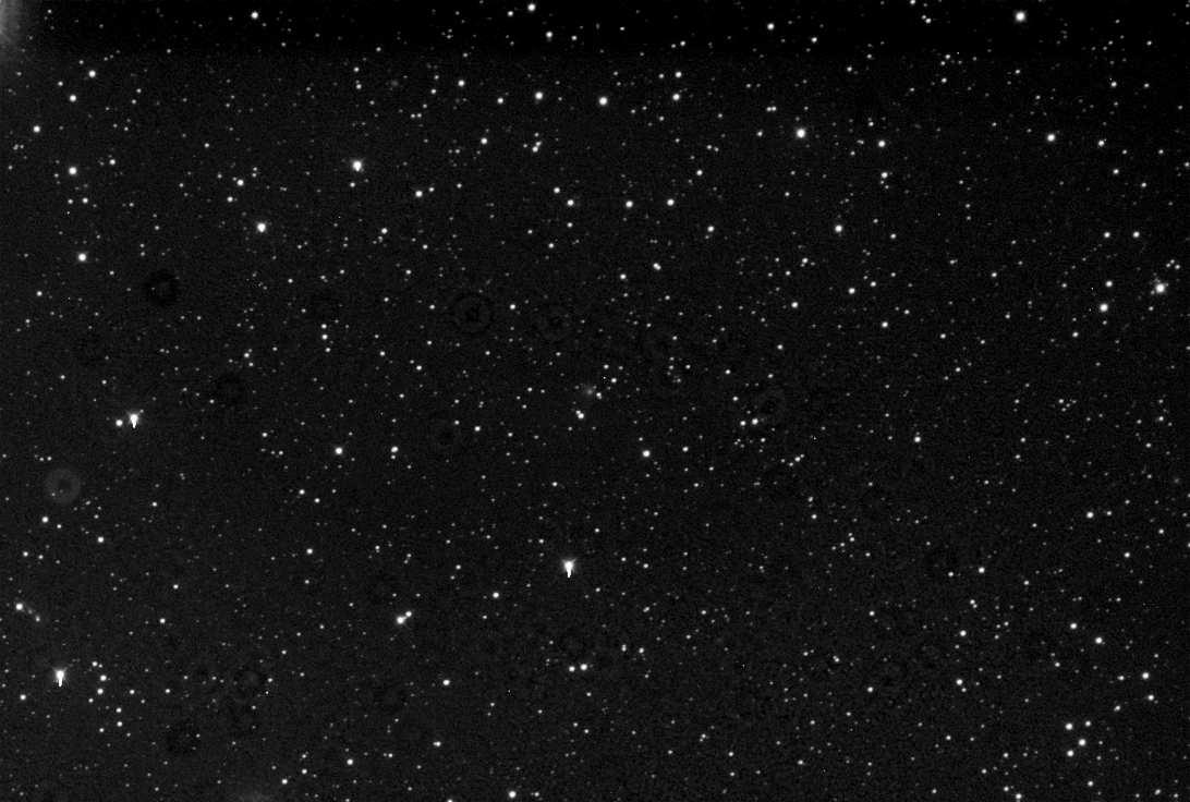 C/2017 K2 (PANSTARRS), 300 sekunder exponering genom ett klarfilter. Foto: Jörgen Danielsson/itelescope.net